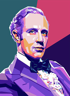 Colorful Button - Leslie Howard by Stars on Art