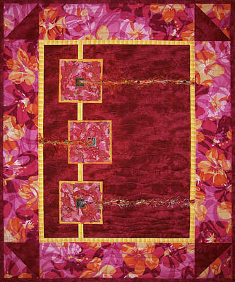 Tapestry - Textile - Let A Hundred Flowers Bloom by Pam Geisel