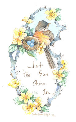 Wall Art - Painting - Let The Sun Shine In by Carolyn Shores Wright