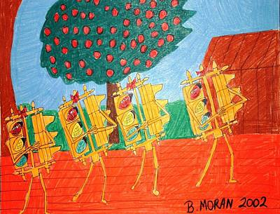 Drawing - Let Us Entertain You by Barb Moran