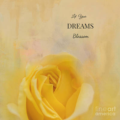 Mixed Media - Let Your Dreams Blossom by Eva Lechner