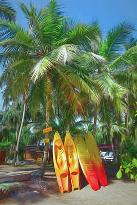 Photograph - Let's Go Surfing Beach Art by Debra and Dave Vanderlaan