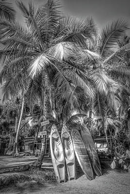 Photograph - Let's Go Surfing In Black And White by Debra and Dave Vanderlaan