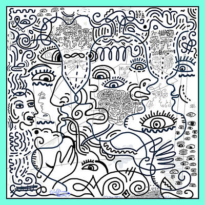 Wall Art - Drawing - Let's Talk Art #02 by James Sasso