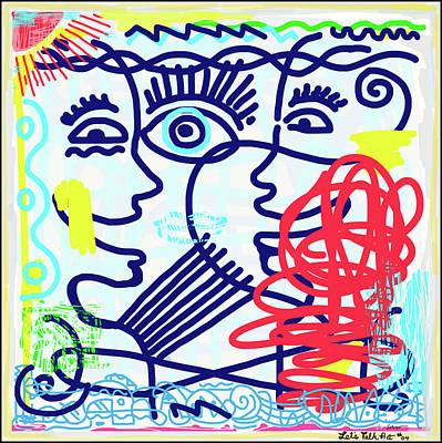 Wall Art - Digital Art - Let's Talk Art #04 by James Sasso