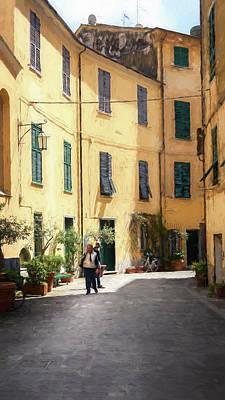Wall Art - Photograph - Levanto Cinque Terre Italy Artistic by Joan Carroll