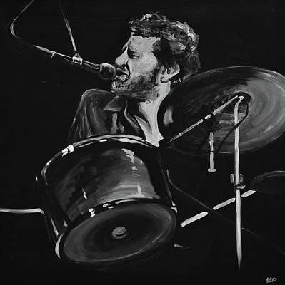 Drums Wall Art - Painting - Levon Helm At Drums by Melissa O'Brien