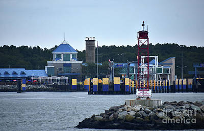Photograph - Lewes Delaware Ferry Landing by Skip Willits