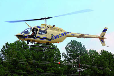 Photograph - Lexington County Sheriff's Department Helicopter by Joseph C Hinson Photography