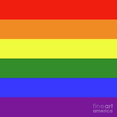 Lgbt 6 Color Rainbow Flag Art Print