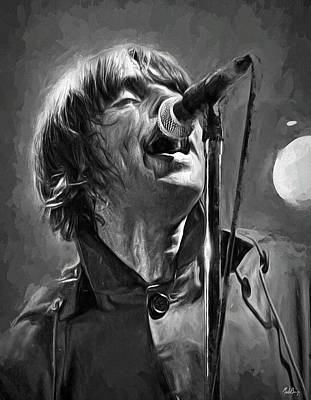 Musicians Mixed Media Royalty Free Images - Liam Gallagher Royalty-Free Image by Mal Bray