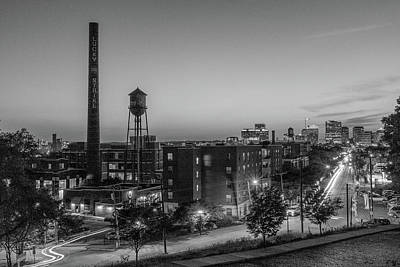 Photograph - Libby Hill At Night In Black And White by Doug Ash