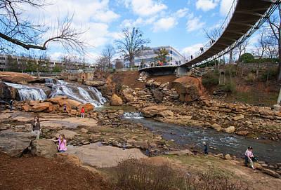 Photograph - Liberty Bridge In Greenville 17 by Joseph C Hinson Photography