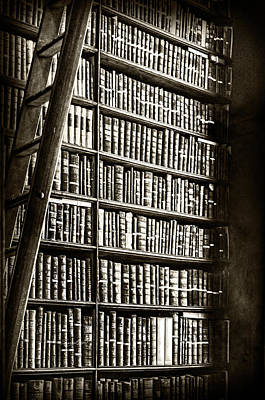 Photograph - Library Shelves by Sharon Popek