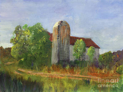 Painting - Lidback Farm Barn by Donna Walsh