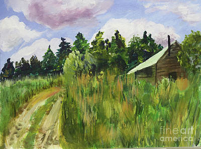 Painting - Lidback Farm Shack by Donna Walsh