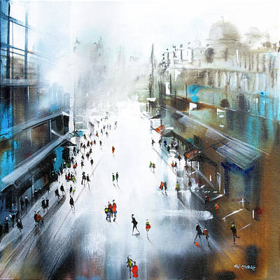 Wall Art - Painting - Life In A Northern Town by Neil McBride