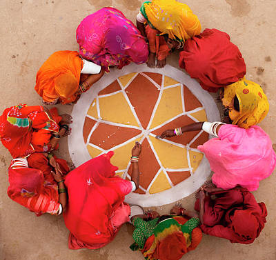 Photograph - Life In A Small Rajasthan Village, India by Mint Images - Art Wolfe