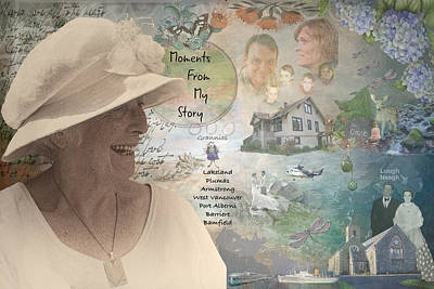 Digital Art - Life Memoir For 80th Birthday by Jacqui Boonstra