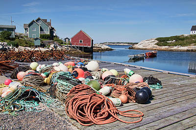 Photograph - Life Of A Fisherman In Peggy's Cove by Peggy Collins