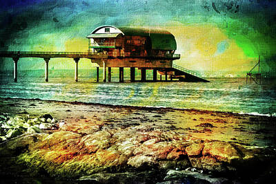 Digital Art - Lifeboat Station by Pete Hunt