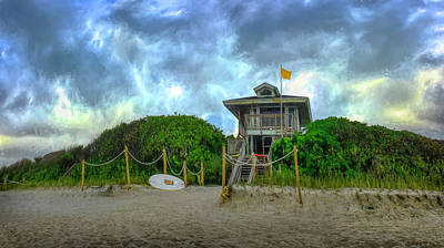 Photograph - Lifeguard Stand At The Beach by Debra and Dave Vanderlaan