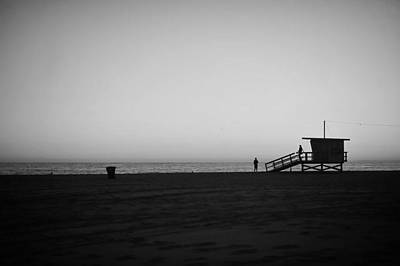 Photograph - Lifeguard Tower In Santa Monica by Stephen Albanese
