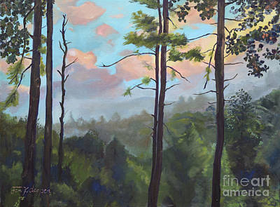 Painting - Lifting My Soul At Pink Knob - In Elliay by Jan Dappen