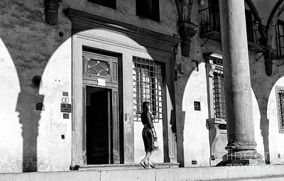 Photograph - Light And Shadow At The Residence Of The Academy Gallery Florence by John Rizzuto
