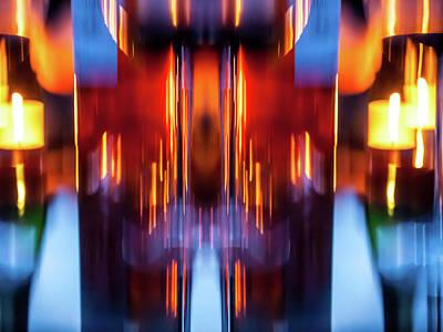 Photograph - Light Art 2 by Jorg Becker