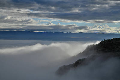 Photograph - Light Beams Through Fruita Canyon Fogt by Ray Mathis