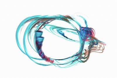 Surrealism Digital Art - Light Blue Loops by Don Northup