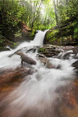 Photograph - Light On Silken Cascades by Debra and Dave Vanderlaan