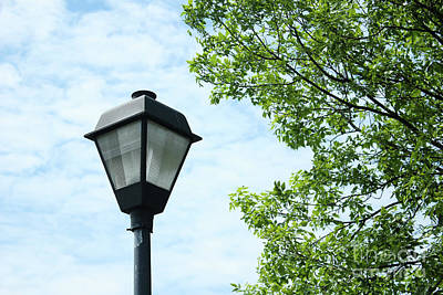 Light Pole In The Sky Art Print
