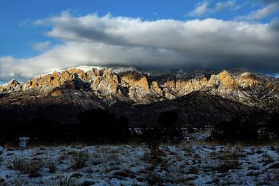 Photograph - Light Snow On The Sandias by Howard Holley