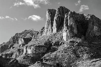 Light Snow On The Superstition Mountains Original