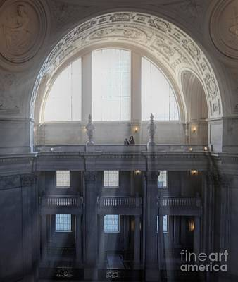 Photograph - Light Stream  City Hall San Francisco  by Chuck Kuhn