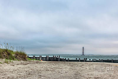 Photograph - Light Up The Sky - Morris Island Lighthouse by Dale Powell