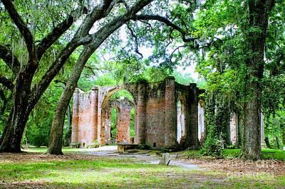 Photograph - Light Within Church Ruins by Carol Groenen