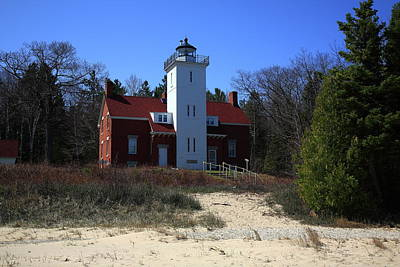Photograph - Lighthouse - 40 Mile Point Michigan 2 by Frank Romeo