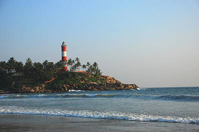 Kerala Photograph - Lighthouse At Kovalam Beach, Kerala by Aditi Das Patnaik