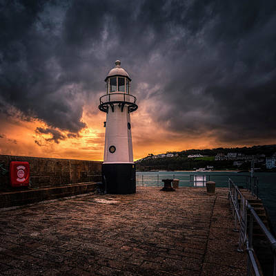 Lighthouse Dramatic Sky Art Print