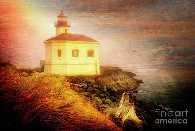 Photograph - Lighthouse In Fog by Scott Kemper