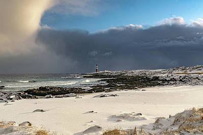 Photograph - Lighthouse In The Storm by Arctic FineArt