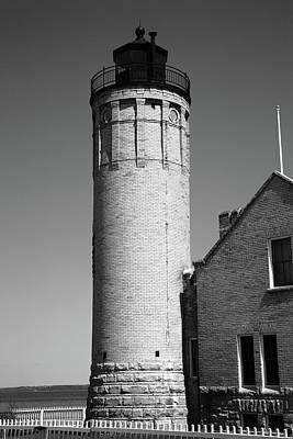 Photograph - Lighthouse - Mackinac Point Michigan 2 Bw by Frank Romeo