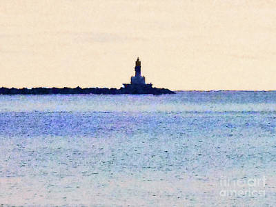 Digital Art - Lighthouse On Lake by Phil Perkins