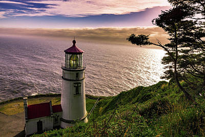 Photograph - Lighthouse on Ocean Shore by Dixon Pictures