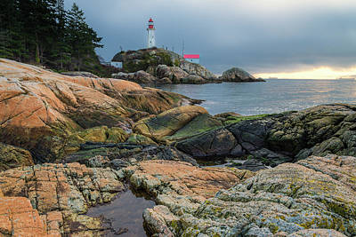Photograph - Lighthouse Park, W. Vancouver, British by Michael Wheatley
