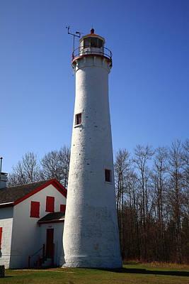 Car Photos Douglas Pittman - Lighthouse - Sturgeon Point Michigan 2 by Frank Romeo