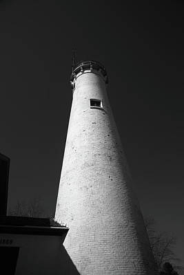 Photograph - Lighthouse - Sturgeon Point Michigan 4 Bw by Frank Romeo